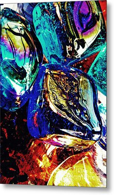 Glass Abstract 687 Metal Print by Sarah Loft