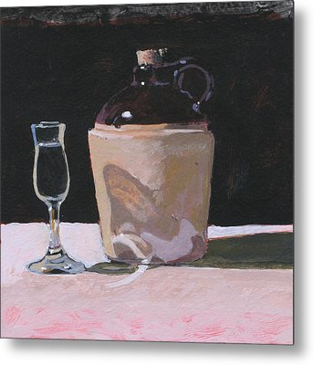 Glass And Jug Metal Print by Robert Bissett