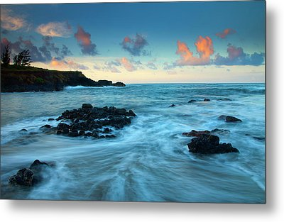 Glass Beach Dawn Metal Print by Mike  Dawson