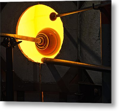 Glass Blowing Metal Print by Marion McCristall