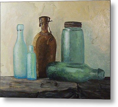 Metal Print featuring the painting Glass by Rachel Hames