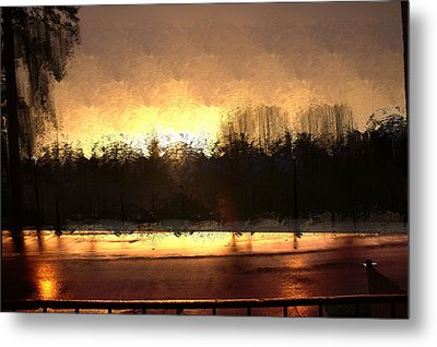 Glassy Dawn Metal Print
