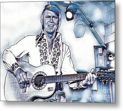 Glen Campbell Singer Metal Print