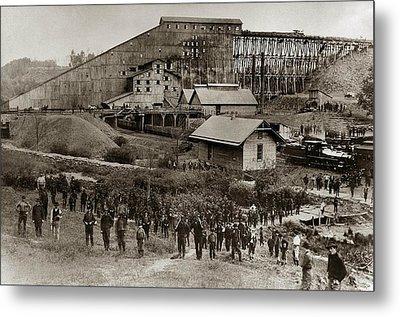 Glen Lyon Pa Susquehanna Coal Co Breaker Late 1800s Metal Print