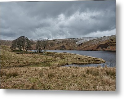 Metal Print featuring the photograph Glendevon Reservoir In Scotland by Jeremy Lavender Photography