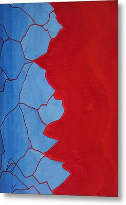 Glitch In The Matrix Original Painting Metal Print