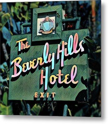 Glitzy Beverly Hills Hotel Metal Print by Russ Harris