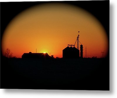 Global Sunset Metal Print by Sue Stefanowicz
