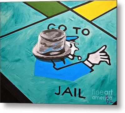 Go To Jail  Metal Print by Herschel Fall