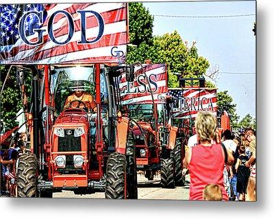 God Bless America And Farmers Metal Print by Toni Hopper