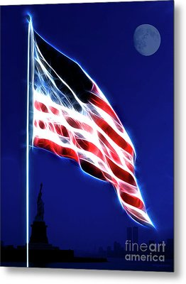 God Bless America Metal Print by Wingsdomain Art and Photography
