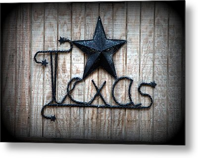 Metal Print featuring the photograph God Bless Texas by Kathy  White