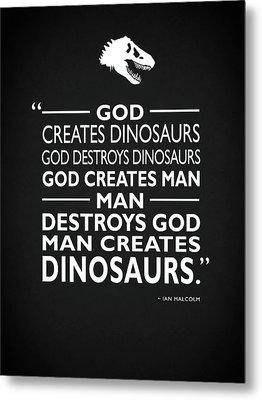 God Creates Dinosaurs Metal Print