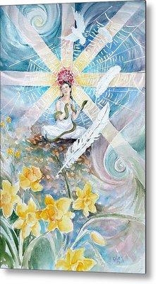 Goddess Awakened Metal Print