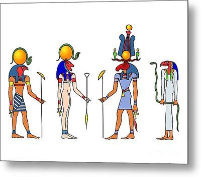 Gods And Goddess Of Ancient Egypt Metal Print by Michal Boubin