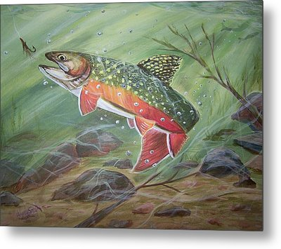 Going For It Metal Print by Wendy Smith