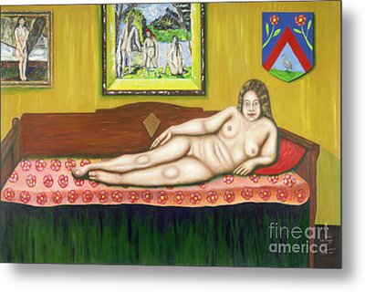 Gok With Munch And Cezanne Metal Print by Neil Trapp