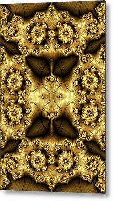 Gold N Brown Phone Case Metal Print