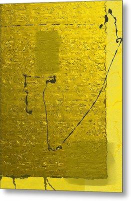 Gold Parchment Metal Print
