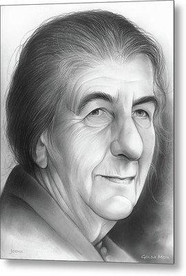 Golda Meir Metal Print