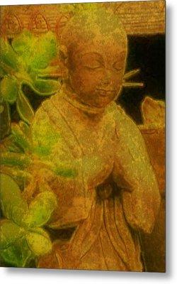 Golden Buddha Metal Print by Jen White
