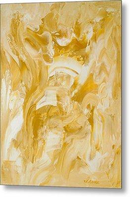 Golden Flow Metal Print