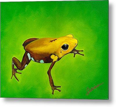 Golden Frog Of Supata Metal Print by Sabina Espinet