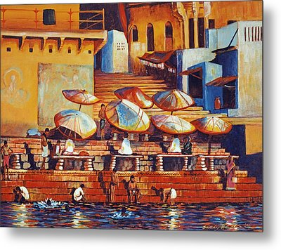 Golden Ganges Metal Print