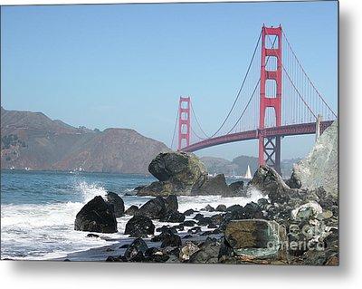 Golden Gate Beach Metal Print