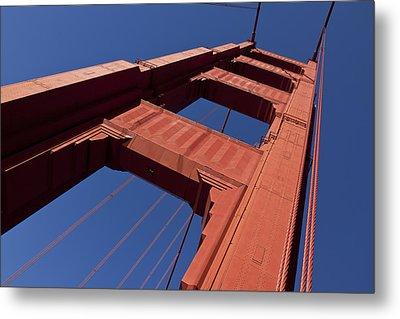 Golden Gate Bridge At An Angle Metal Print by Garry Gay