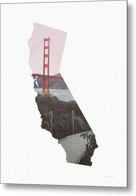 Golden Gate Bridge California- Art By Linda Woods Metal Print