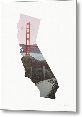 Golden Gate Bridge California- Art By Linda Woods Metal Print by Linda Woods