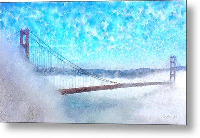 Golden Gate Bridge - Pa Metal Print by Leonardo Digenio