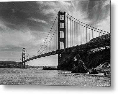 Golden Gate East Bw Metal Print