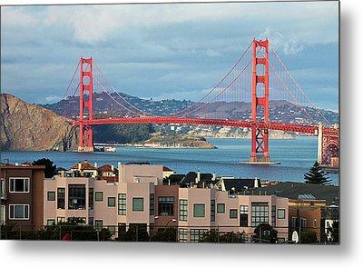 Golden Gate Metal Print by Stickney Design