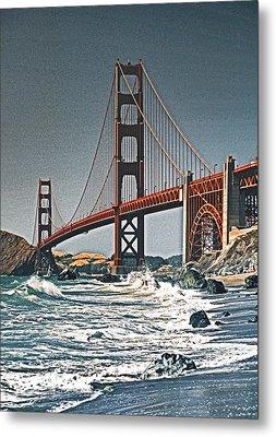 Golden Gate Surf Metal Print by Dennis Cox WorldViews
