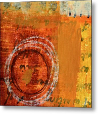 Metal Print featuring the painting Golden Marks 11 by Nancy Merkle