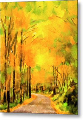 Metal Print featuring the painting Golden Miles - Ode To Appalachia by Mark Tisdale