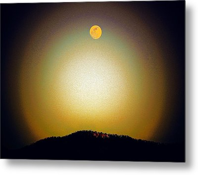 Golden Moon Metal Print by Joseph Frank Baraba