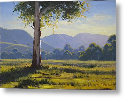 Golden Morning Strath Creek Vic Australia Metal Print