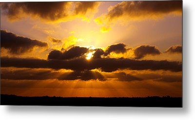 Golden Ray Sunset Metal Print by James Granberry