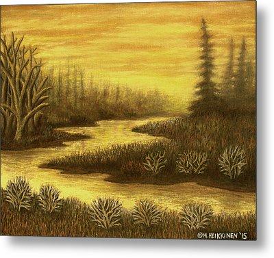 Golden River 01 Metal Print