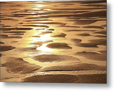 Metal Print featuring the photograph Golden Sands by Roupen  Baker