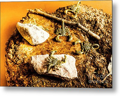 Golden Scorpion Amulets Metal Print by Jorgo Photography - Wall Art Gallery
