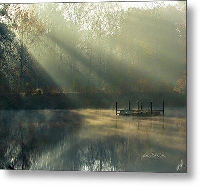 Golden Sun Rays Metal Print by George Randy Bass