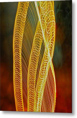Golden Swirl Abstract Metal Print