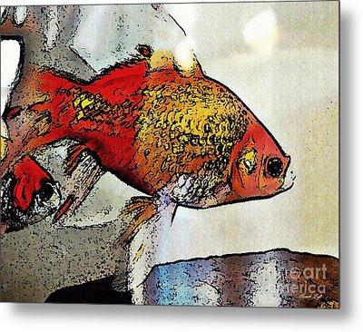 Goldfish Metal Print by Sarah Loft
