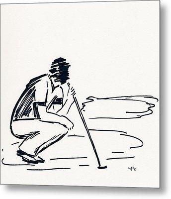 Golf IIi Metal Print by Winifred Kumpf