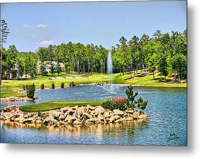 Metal Print featuring the photograph Golf In The Morning by Kathy Tarochione