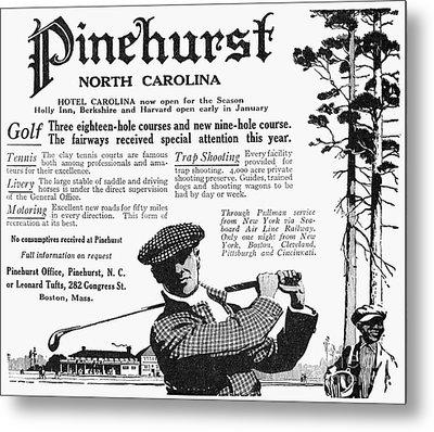 Golf: Pinehurst, 1916 Metal Print by Granger